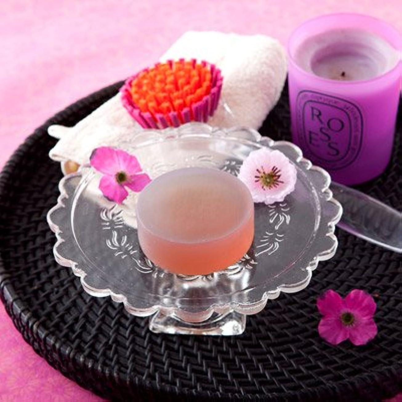 メタリック咲くに沿ってお肌の弱い方も安心なクリアソープセット ペアローザ エステソープ 紫潤(2個セット)