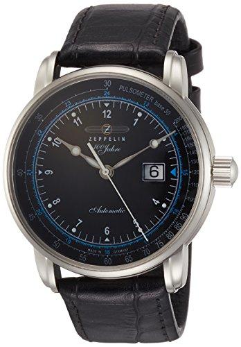 [ツェッペリン]ZEPPELIN 腕時計 100周年 ブラック文字盤 自動巻き 76642S-BLU メンズ 【並行輸入品】