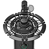 Blue Yeti X Shock Mount, Latest Alloy Shockmount Reduces Vibration and Shock Noise Matching Boom Arm Mic Stand, Designed for Blue Yeti X Microphone by YOUSHARES