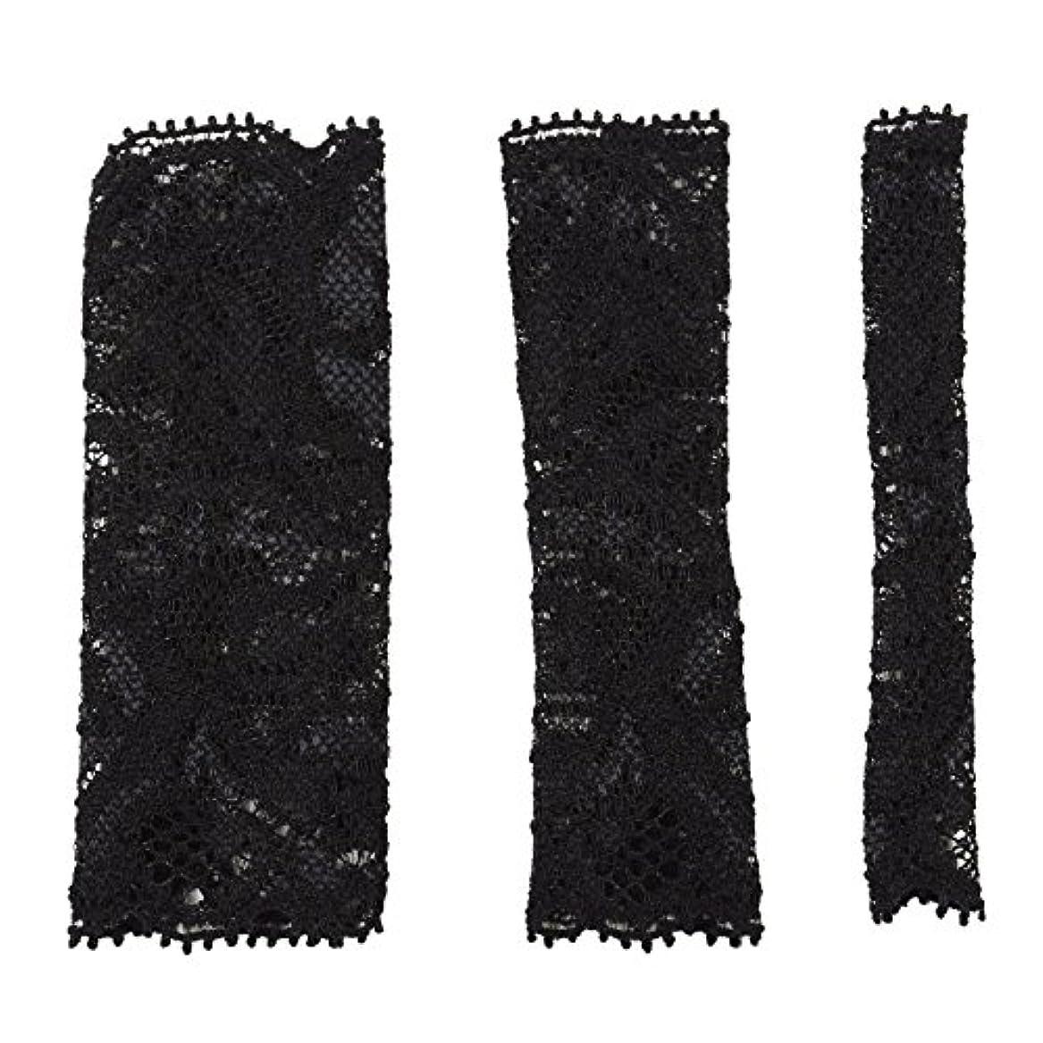シードクロニクル家庭教師BCL500BK 六角館さくら堂 ブラッシュキャップ3枚セット ブラック パウダーブラシ チークブラシ アイシャドーブラシ各1枚 ほこりや汚れからブラシから守る 化粧筆カバー ブラシキャップ ブラシカバー レース 特許申請済レース