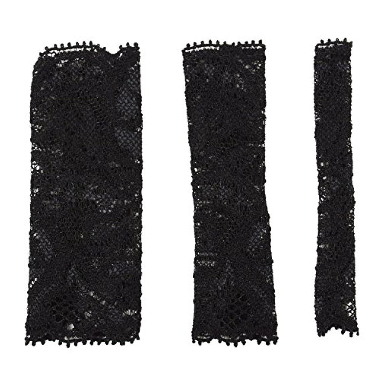歪める重量フォアマンBCL500BK 六角館さくら堂 ブラッシュキャップ3枚セット ブラック パウダーブラシ チークブラシ アイシャドーブラシ各1枚 ほこりや汚れからブラシから守る 化粧筆カバー ブラシキャップ ブラシカバー レース 特許申請済レース