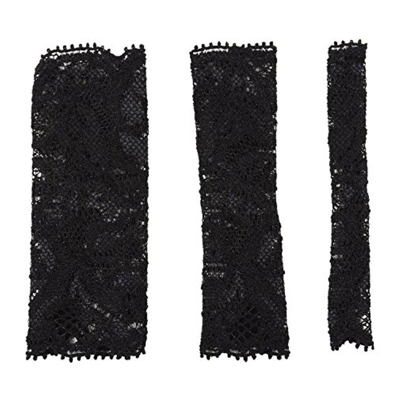 情報予報必要BCL500BK 六角館さくら堂 ブラッシュキャップ3枚セット ブラック パウダーブラシ チークブラシ アイシャドーブラシ各1枚 ほこりや汚れからブラシから守る 化粧筆カバー ブラシキャップ ブラシカバー レース 特許申請済レース