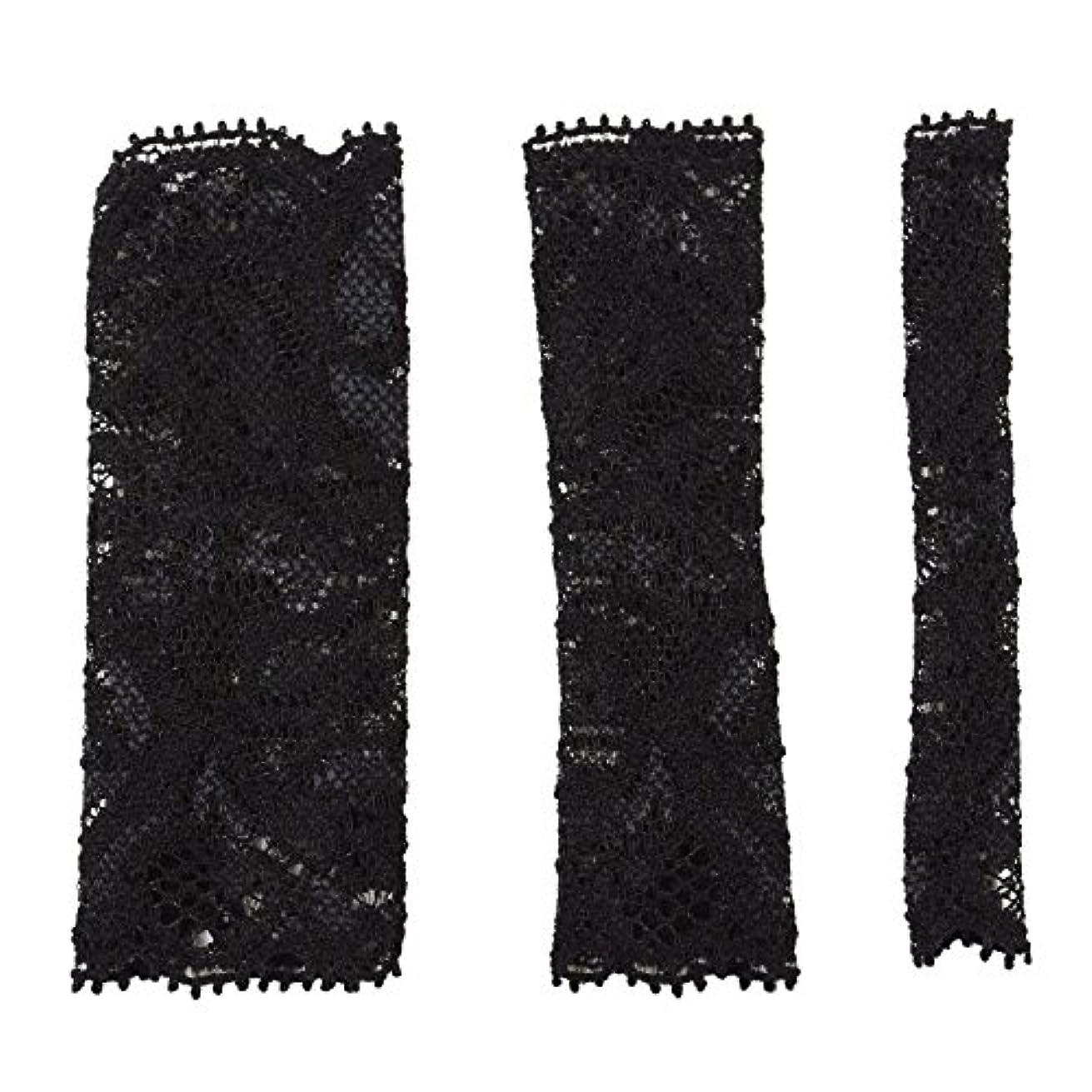 シール申し込むホーンBCL500BK 六角館さくら堂 ブラッシュキャップ3枚セット ブラック パウダーブラシ チークブラシ アイシャドーブラシ各1枚 ほこりや汚れからブラシから守る 化粧筆カバー ブラシキャップ ブラシカバー レース 特許申請済レース