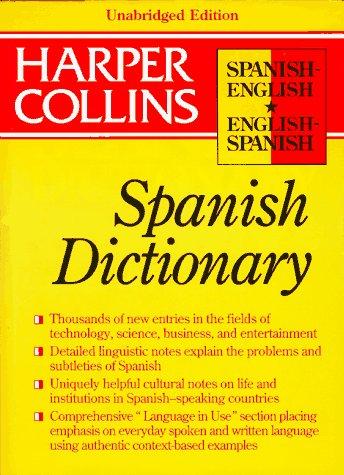Dic Collins Spanish English English Spanish Dictionary: Unabridged/Thumb Index