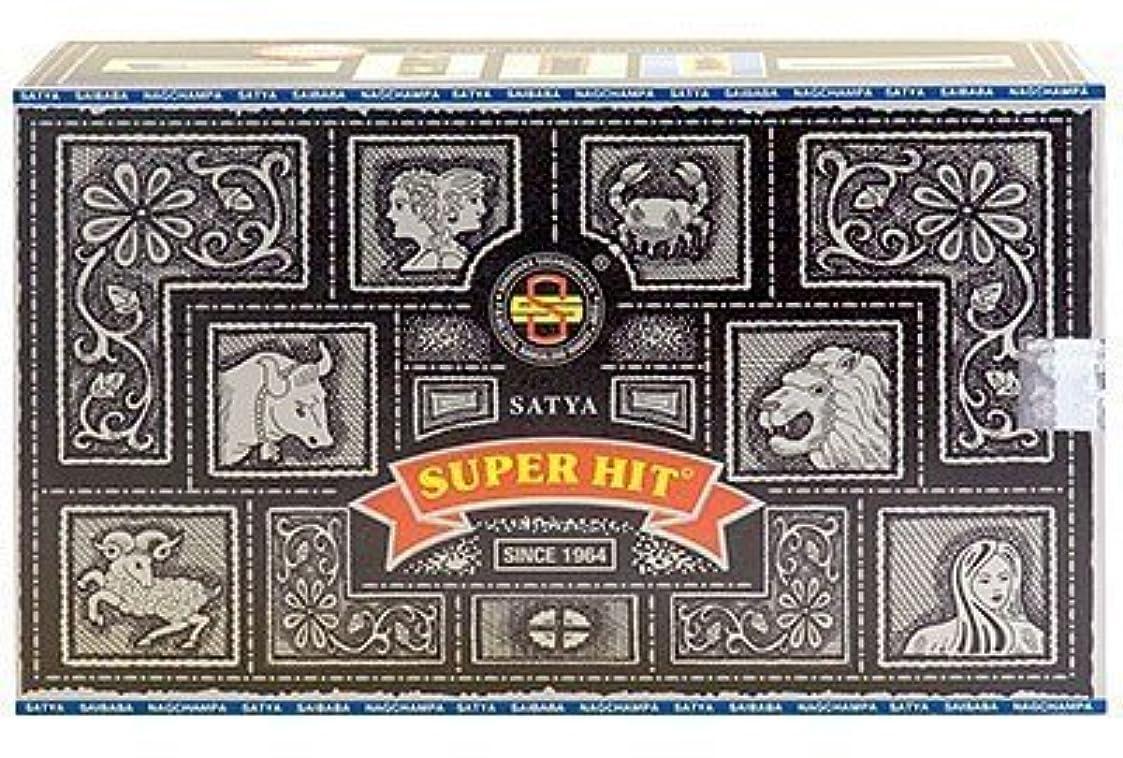 どこでも虐殺やがてSuper Hit Incense Sticks 480g (12pkgs. x 40g) by Satya [並行輸入品]