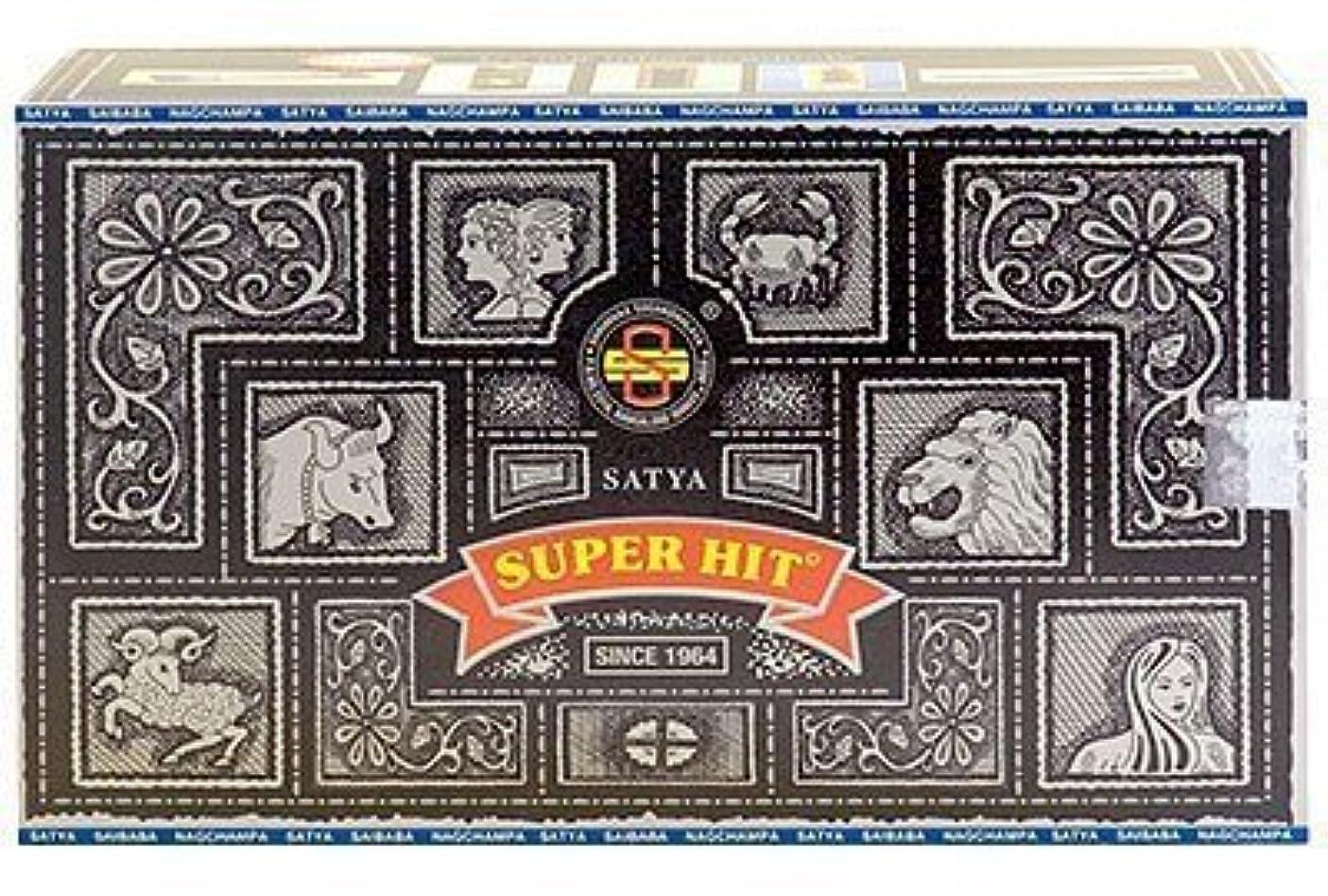 尾収益袋Super Hit Incense Sticks 480g (12pkgs. x 40g) by Satya [並行輸入品]