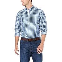Tommy Hilfiger Men's Gingham Check Cotton Shirt, Blue Quartz/Multi