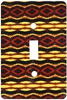3drose LLC lsp _ 31314_ 1Fyre Trybe Tribalレトロ幾何パターン抽象Textile Single切り替えスイッチ