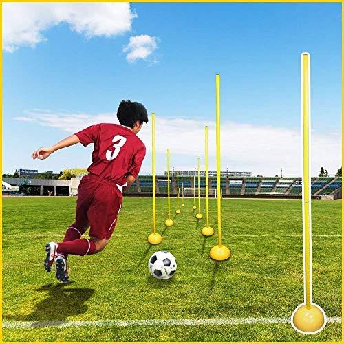 iimono117 サッカー トレーニングポール アジリティポール 自立式 / ドリブル 練習 トレーニング用品 練習器具 アジリティトレーニング