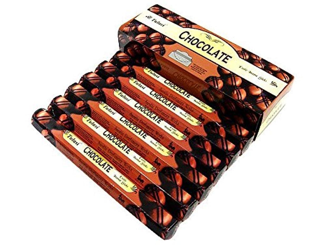 怒り敗北フロントTULASI(トゥラシ) チョコレート香 スティック CHOCOLATE 6箱セット