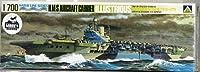 アオシマ 1/700 ウォーターライン イギリス海軍航空母艦 イラストリアス 1/700 プラモデル
