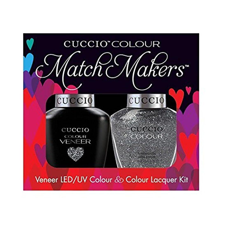 六月正確さ優雅Cuccio MatchMakers Veneer & Lacquer - Vegas Vixen - 0.43oz / 13ml Each