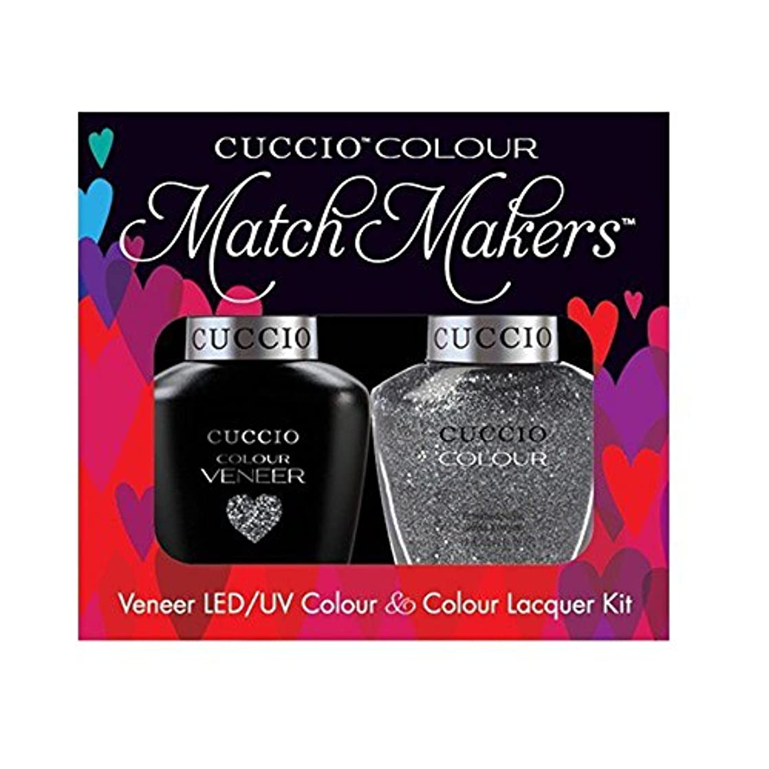 ヒールギャラントリーバレルCuccio MatchMakers Veneer & Lacquer - Vegas Vixen - 0.43oz / 13ml Each