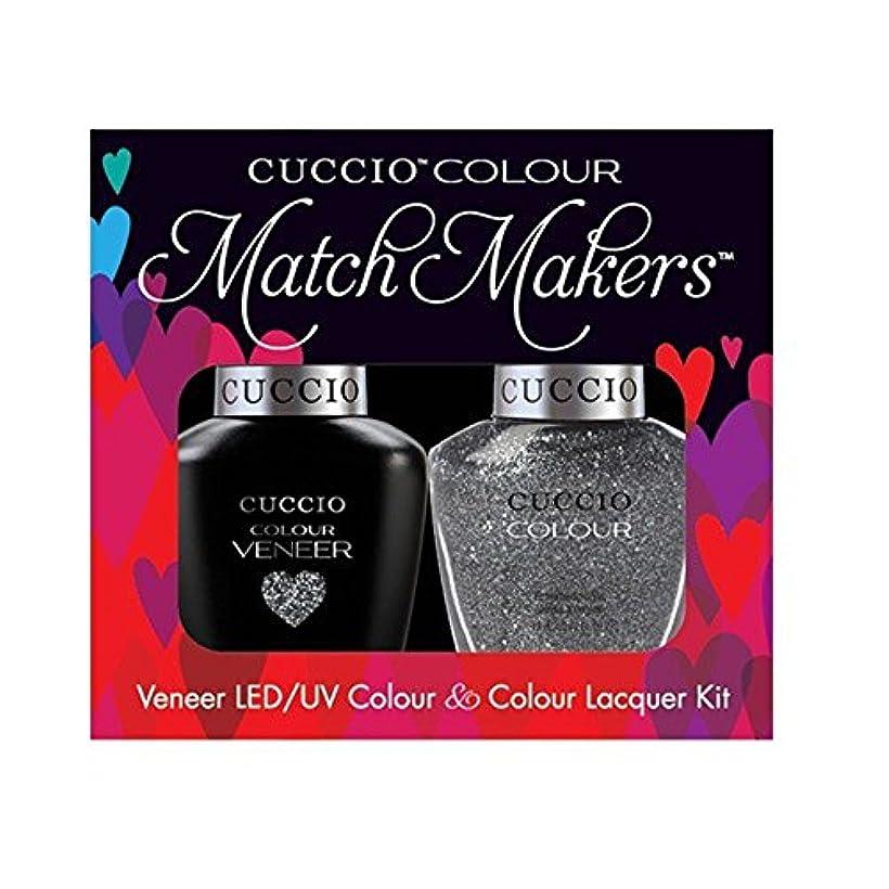 ワゴン秘書害Cuccio MatchMakers Veneer & Lacquer - Vegas Vixen - 0.43oz / 13ml Each
