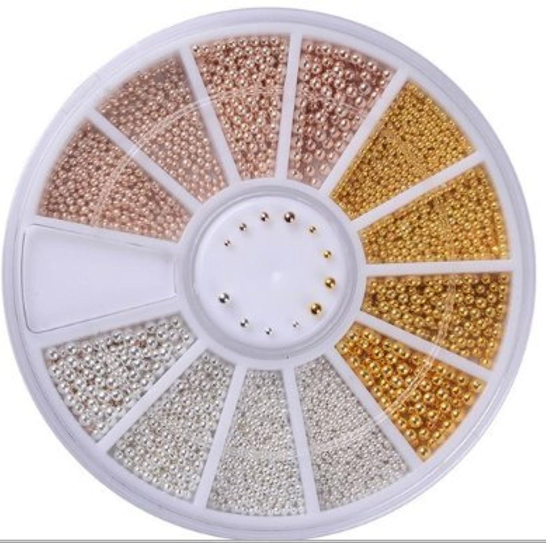 直感巻き取り引数Nail-riche/ネイルリシェ ブリオンパーツ 3カラー4サイズ ラウンドケース付き
