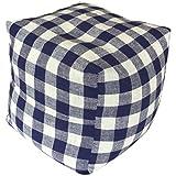 コージカンパニー 枕 ネイビー 16×16×16cm 備長炭セラミック テレビ枕 チェック 120106