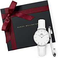 Gift Set Classic Petite Bondi White Watch  28mm + Cuff S Small