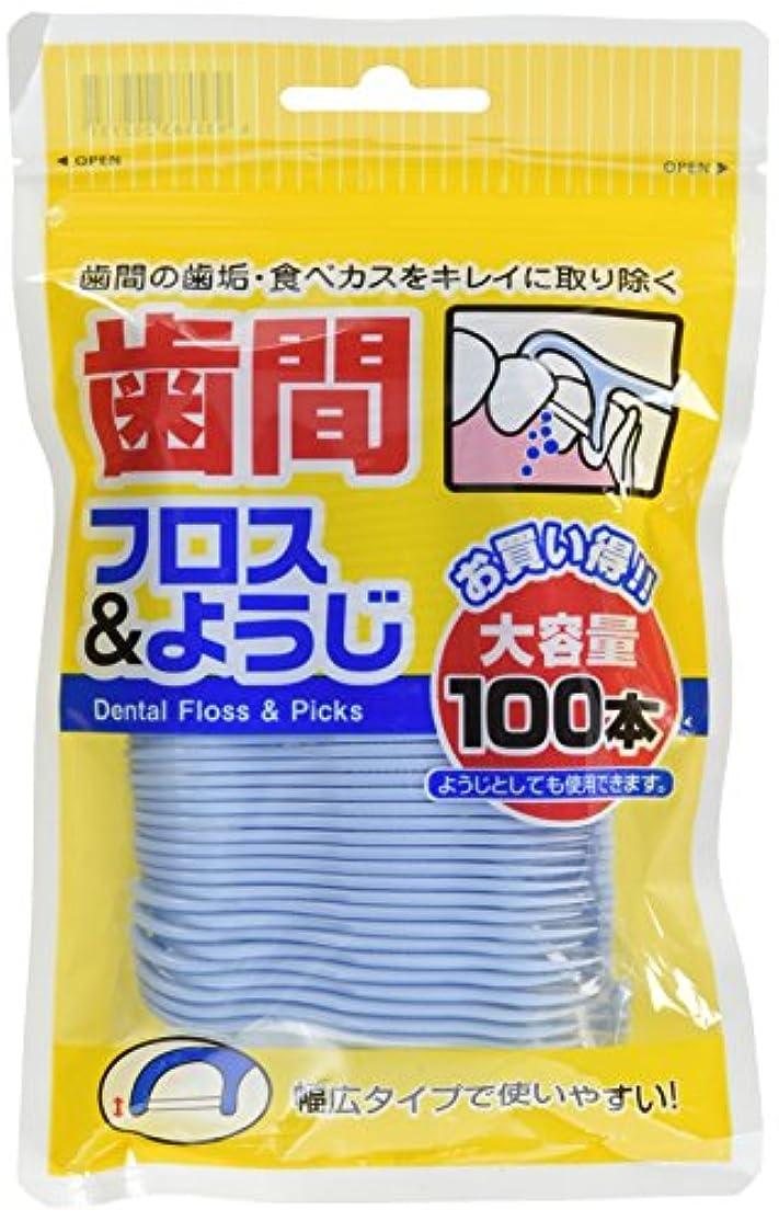 キャップ気分が良い静める白金製薬 歯間フロス&ようじ 100本
