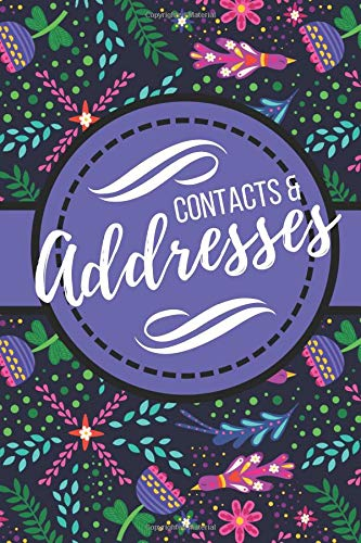 Contacts & Addresses: Colorful Modern Floral Design