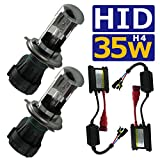 HID H4 Hi/Lo リレーレス ヘッドライト フルキット ハイロー切り替え 35w 6000k