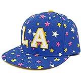 ハッピーハット キッズ 帽子 キャップ 輝きラメMIX星柄 アンダーバイザー ブルー kids-254-01