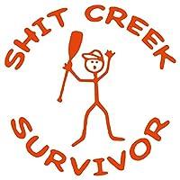 """レンジャーShit Creek Survivorパドルカヤックカヌーステッカーデカール 5.5"""" オレンジ 743161842590"""
