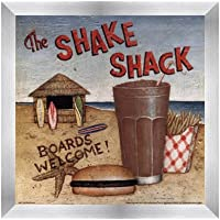 Shake Shack by David Carter Brown–10x 10インチ–アートプリントポスター LE_480531-F9935-10x10