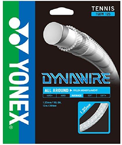 ヨネックス(YONEX) 硬式テニス ストリングス ダイナワイヤー 125 (1.25mm) TGDW125 ホワイト×シルバー