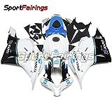 Sportfaiirngs フェアリング 外装パーツセット 適応モデル ホンダ CBR600RR CBR600-RR F5 09-12 2009 2010 2011 2012 年 白と青の円 バイク カウル