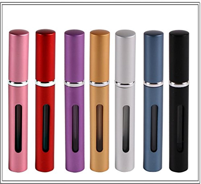 放棄するコミュニケーションボーナスJCNCE アトマイザー 香水入れ 香水瓶 詰め替え 容量5ml 化粧水 旅行ボトル 7本セット ランダムな色