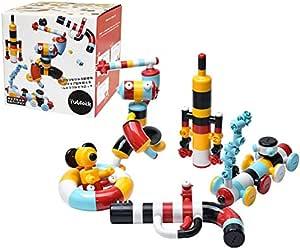 子供 クリスマスプレゼント ブロック おもちゃ 組み立て 知育玩具 人気 ランキング 5歳 6歳 7歳 8歳 9歳 小学生 男の子 女の子 子供 誕生日 プレゼント ギフト Tublock チューブロック (キッズセット5色)