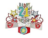 Happy 21st BirthdayポップアップグリーティングカードSecond Nature 3d Pop Upカード