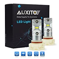 AUXITO Extremely Bright CSP Chipsets 6000K Xenon White PSX24W 2504 LED Bulbs Durable for DRL or Fog Lights 1200 Lumens Per Bulb (Pack of 2) [並行輸入品]
