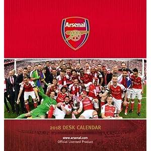 Arsenal F.C. Official Desk Easel 2018 Calendar - Month To View Desk Format (Desk Easel Calendar 2018)