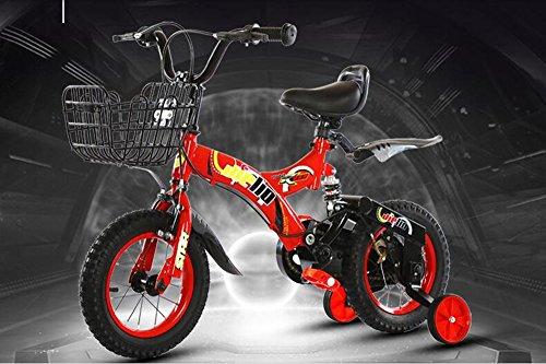 ショックアブソーババイク、ショック子供用自転車、ベビー用バイク、子供用車 ( 色 : 赤 , サイズ...