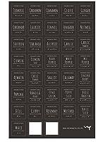 WY オリジナル 料理素材ラベルシール 31品目+手書きシール2枚 WY-HM015(スパイス・ハーブ類)