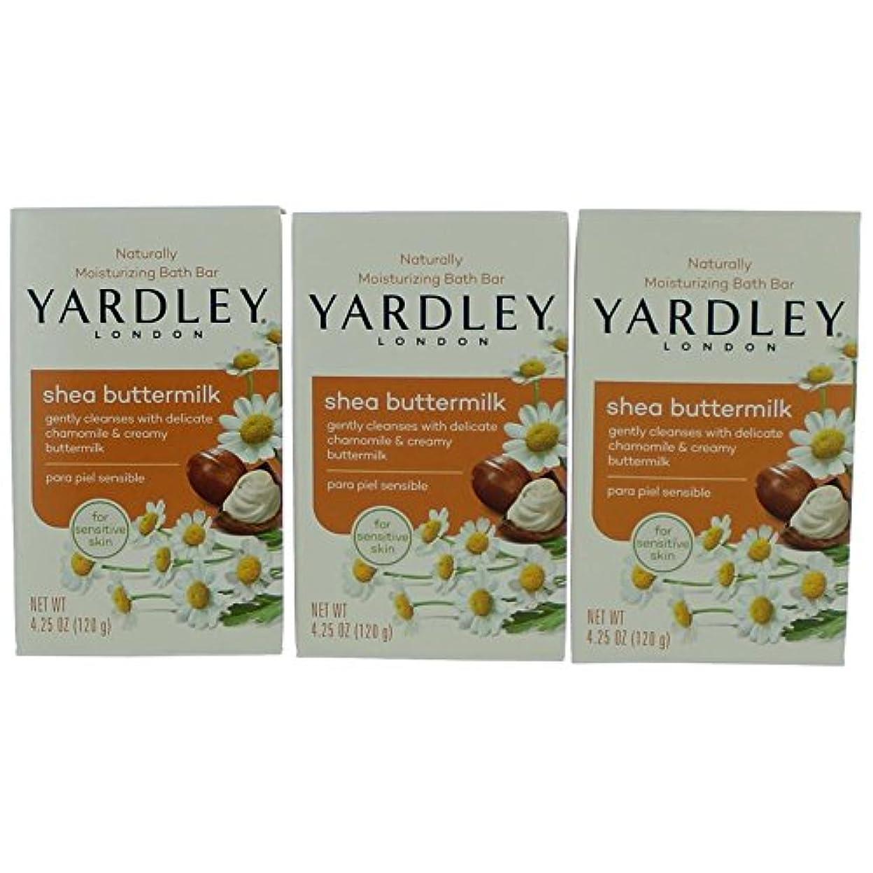 恥ずかしさ無秩序損傷Yardley ロンドン敏感肌シェイバターミルク石鹸、4.25オズ(4パック) 4パック