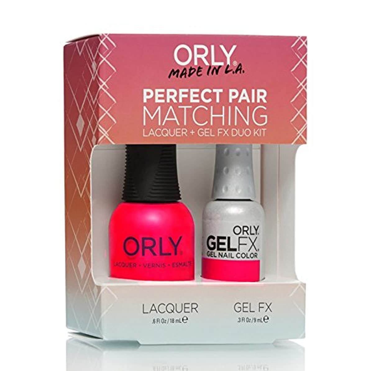間煩わしいリラックスしたOrly Lacquer + Gel FX - Perfect Pair Matching DUO Kit - Neon Heat
