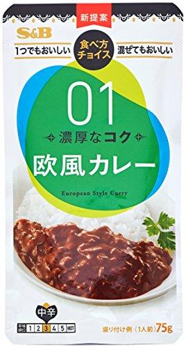 エスビー食品 S&B 食べ方チョイス 欧風カレー 中辛 ×10個