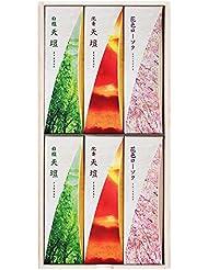 天壇進物3000 桐箱 包装品 (白檀の香り2箱、沈香の香り2箱、花色ローソク2箱)
