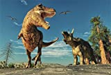 csfoto 7?x 5ft恐竜ジュラ紀期間の背景写真バックドロップAttack Huge Dangerous Wildlife Tropical Cool Animal Boy部屋装飾子Portrait Photo Studioプロップビニール壁紙