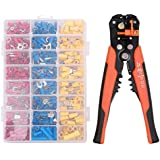 SODIAL 400 Pieces Of Connectors And Electrical Automatic Wire Stripper Crimper Terminal Kit