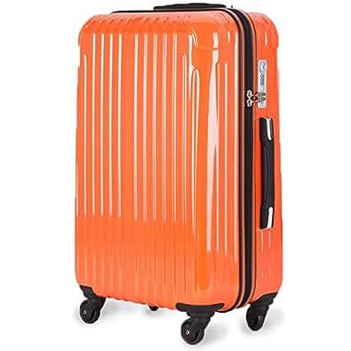 ラッキーパンダ Luckypanda 2年修理保証 TY001 スーツケース 超軽量 機内持込 TSAロック 小型 キャリーバッグ キャリーケース キャリーバック 旅行 バッグ トランクケース 旅行かばん かわいい 軽量 Sサイズ 国内・国際 機内持ち込み可 (S, オレンジ)