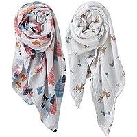 Organic Muslin Swaddle Blankets 100% Organic Cotton - 2 Pack - Ten Little Toes - Unisex Baby Boy Baby Girl [並行輸入品]