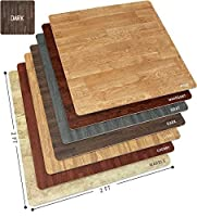 Sorbus Wood Floor Mats Foam Interlocking Wood Mats Each Tile 4 Square Feet 3/8-Inch Thick Puzzle Wood Tiles with Borders ? for Home Office Playroom Basement (12 Tiles 48 Sq ft,Wood Grain - Dark) [並行輸入品]