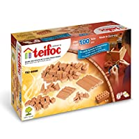 Teifoc 4090 - assorted 100 brick set - Build with real Bricks & Cement