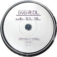 Good-J DVD+R DL CPRM非対応 データ&ビデオ対応(8.5GB/215min) 2.4-8倍速 ワイドプリンタブル 10枚 スピンドルケース GJDL+8X10PW