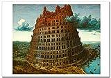 世界の名画・ピーテル ブリューゲル バベルの塔2 ジークレー技法 B4高級ポスター