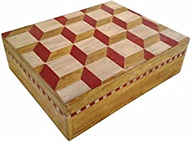 Artes Studio - 木製ボックス 3Dイリュージョン 手作業 装飾・絵付け 蜜ろう仕上げ