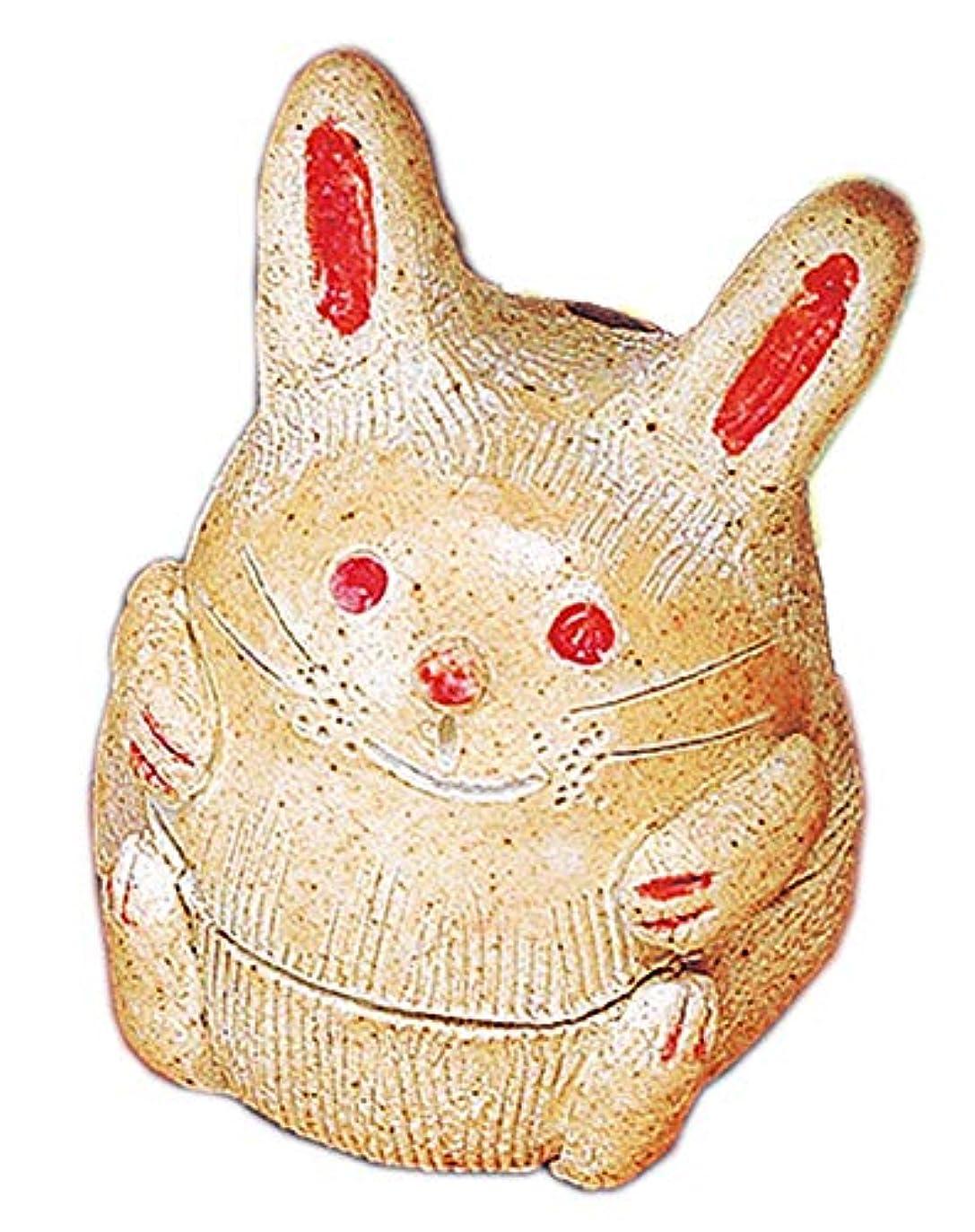 著者すり減る株式会社香炉 福ウサギ 香炉 [H8.5cm] HANDMADE プレゼント ギフト 和食器 かわいい インテリア